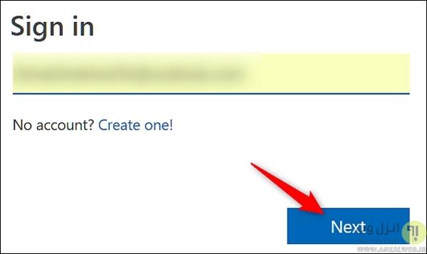 ریکاوری کردن رمز عبور اکانت مایکروسافت