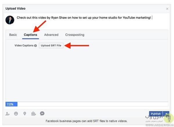 آپلود فایل های زیرنویس SRT در فیس بوک، یوتیوب و...
