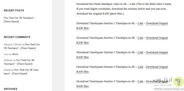 دانلود فیلم های Timelapse رایگان و با کیفیت 4K از free4ktimelapse