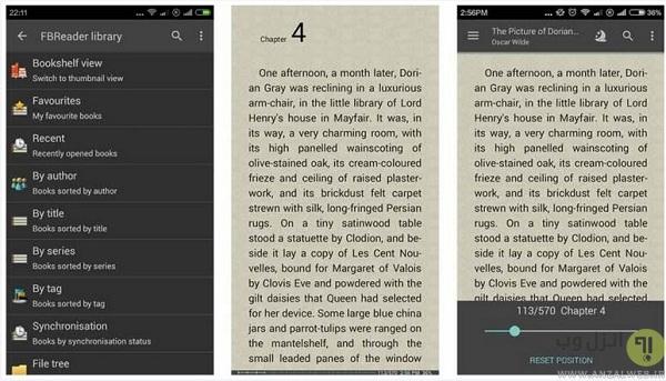 اپلیکیشن کتابخوان FBReader - قدیمی اما کاربردی