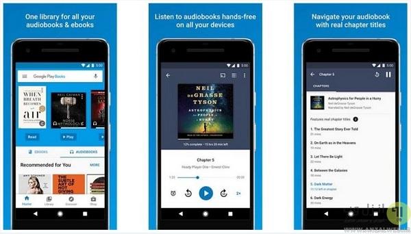 Google Play Books - نرم افزار کتابخانه برای اندروید