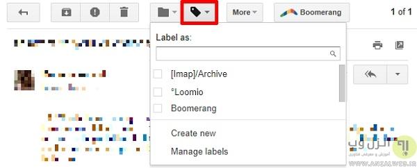 استفاده از برچسب ها در گوگل جیمیل دسکتاپ