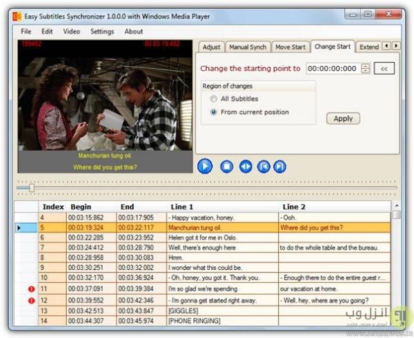 آموزش هماهنگ سازی زیرنویس SRT و SUB فیلم و ویدیو در ویندوز 10، 8 و 7