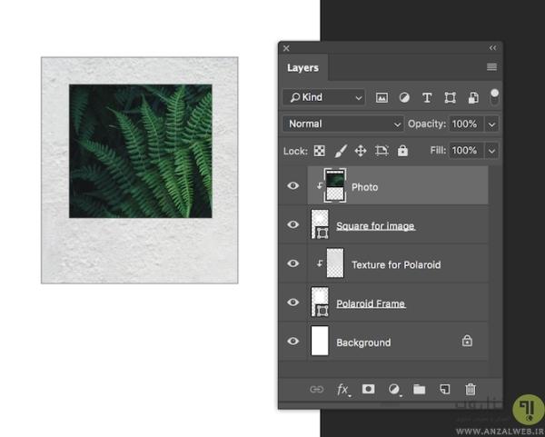 استفاده از برنامه فتوشاپ برای افزودن فریم سفید به عکس