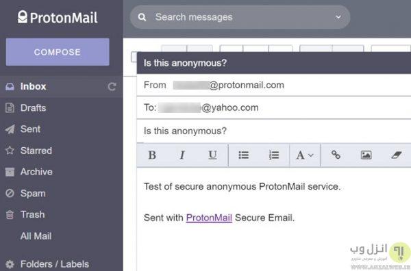 ابزار ارسال و دریافت ایمیل ناشناس ProtonMail