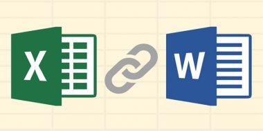 آموزش قرار دادن اطلاعات جدول، نمودار و.. فایل اکسل در ورد