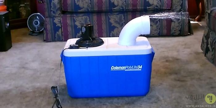 ساخت کولر و خنک کننده هوا در خانه