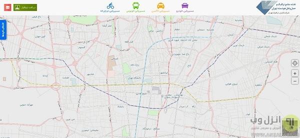 نقشه ترافیکی آنلاین تهران سایت tehrantrafficmap