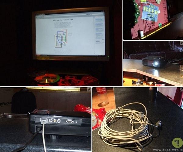 اتصال کابل VGA به کامپیوتر