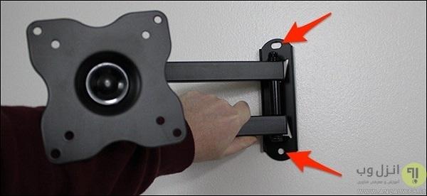 نحوه نصب پایه تلویزیون به دیوار