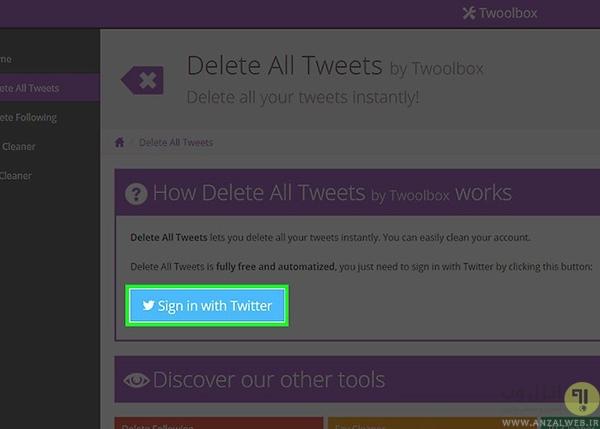 حذف تمامی توییت ها با Delete All Tweets