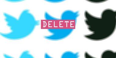 حذف یکباره توییت های توییتر