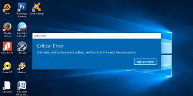 رفع ارور Critical Error در ویندوز 10