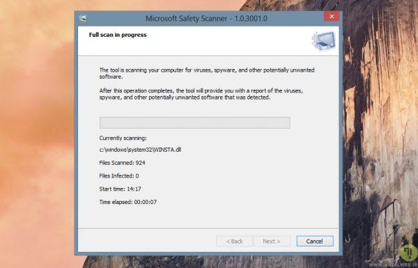 برنامه شناسایی فایل های مخرب Microsoft Safety Scanner