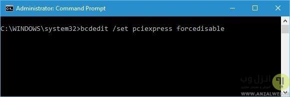 اجرای دستور در Command Prompt برای رفع مشکل گرافیک