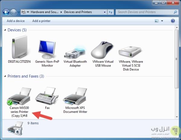 نحوه نصب چاپگر روی ویندوز 7