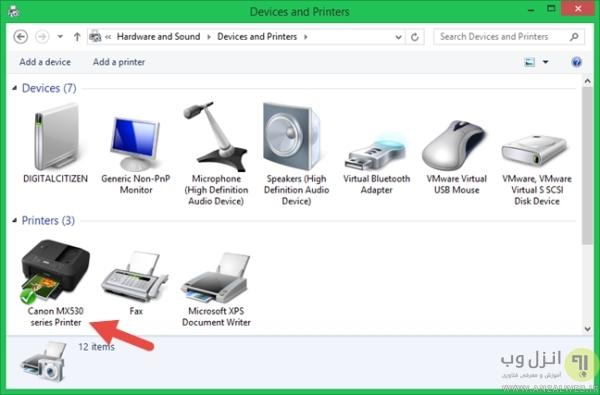 نحوه نصب چاپگر روی رایانه با ویندوز 8.1