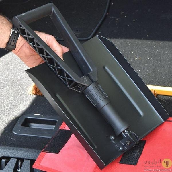 بیل تاشو یکی از ابزار های ماشین