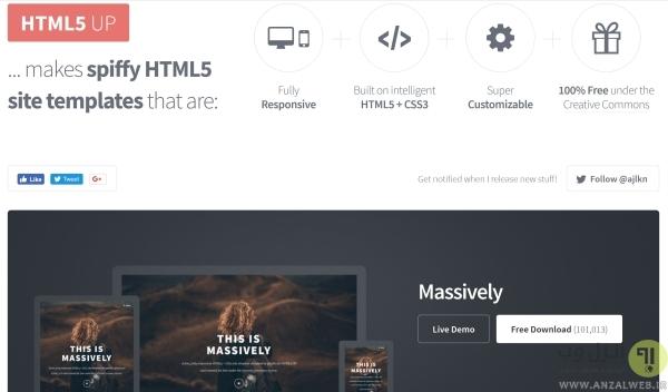 دانلود قالب اچ تی ام ال با HTML5 UP