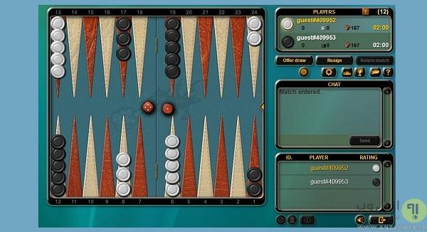 بازی تخته نرد آنلاین در کامپیوتر