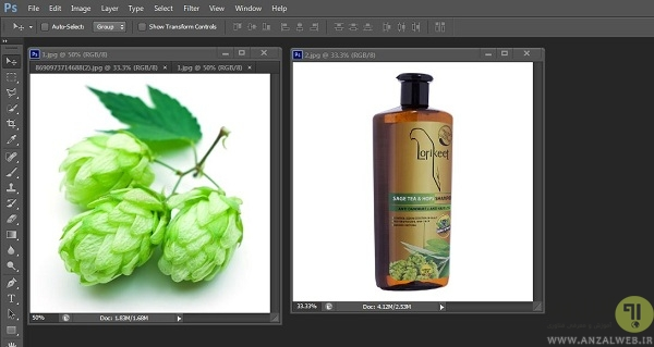 ترکیب چند عکس در فتوشاپ