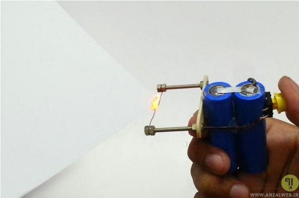 ساخت فندک برقی با باتری