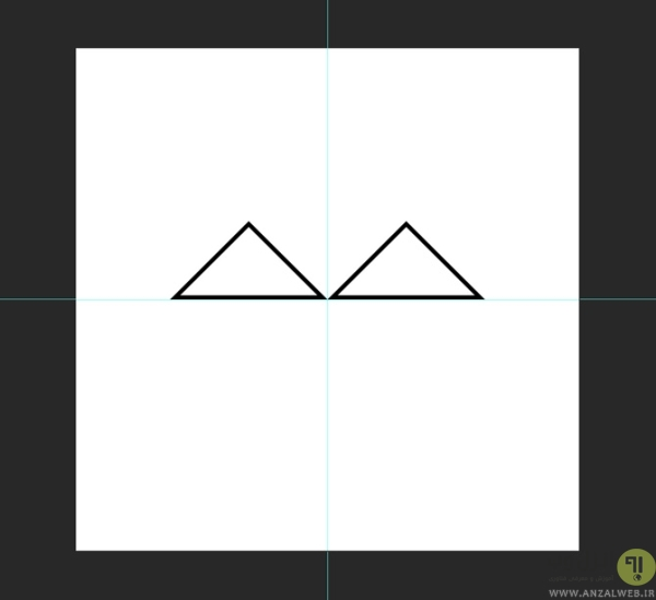 انتخاب موقعیت شکل ها در ساخت لوگو