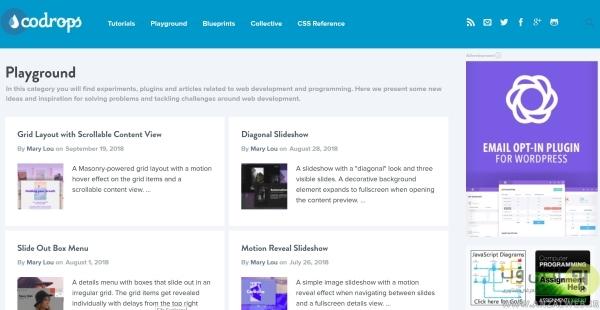 دانلود قالب از Codrops برای وبسایت