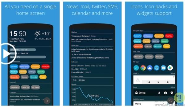 AIO Launcher برای گوشی های اندروید