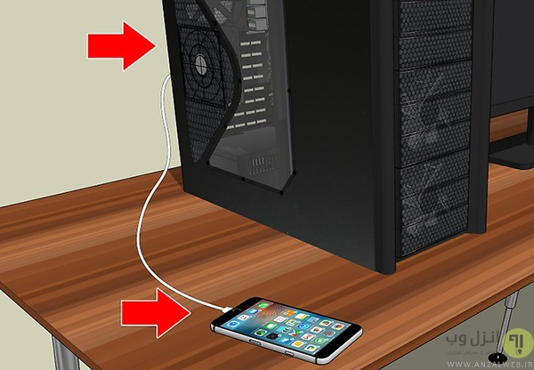 اتصال آیفون به رایانه از طریق USB