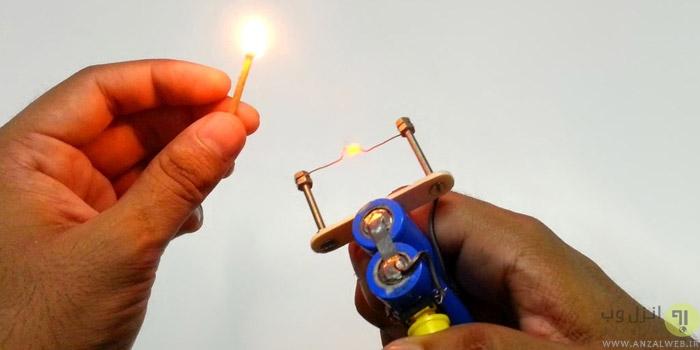 ساخت فندک برقی ساده و حرفه ای در خانه