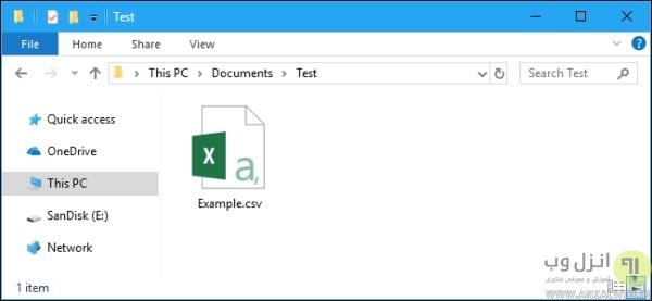 چگونگی باز کردن فایل های CSV در نرم افزار های صفحه گسترده (Spreadsheet)