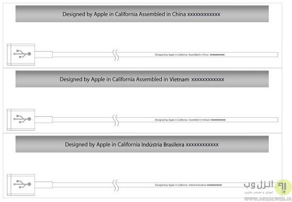 مقایسه بسته بندی و سیم کشی برای شناسایی کابل تقلبی اپل