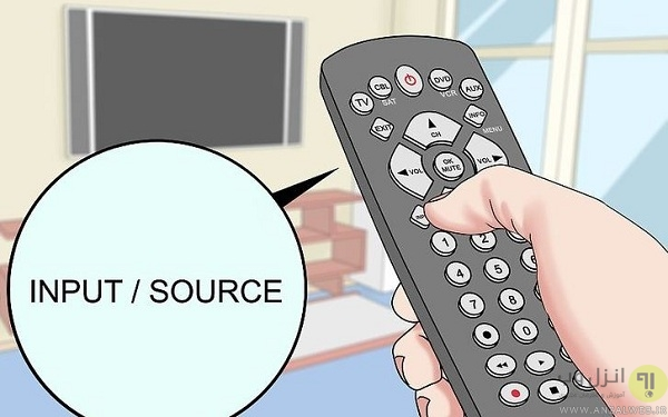 اتصال آیفون به تلویزیون ال جی با استفاده از کابل و آداپتور آنالوگ