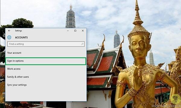 آموزش نحوه تغییر رمز ویندوز 10