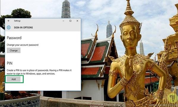 تغییر پسورد ویندوز 10 به پین