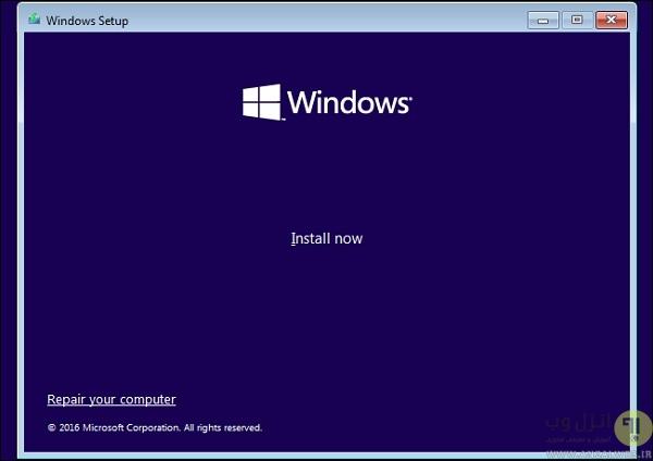 ارور ریکاوری هنگام نصب ویندوز
