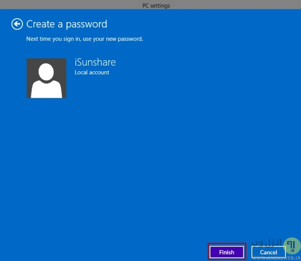 آموزش گذاشتن رمز روی ویندوز 10 از طریق PC settings