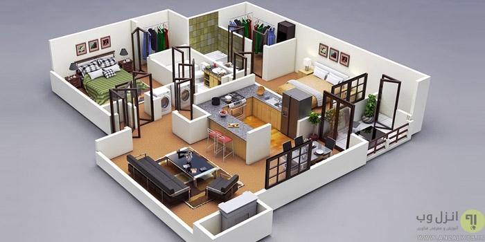 بهترین سرویس های طراحی آنلاین دکوراسیون داخلی منزل ، مغاره و.. از کابینت ، آشپزخانه و..