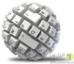 طریقه نوشتن حرف پ در کیبورد ویندوز 10 ، 8 و 7