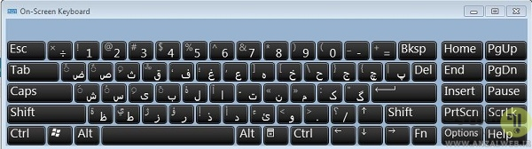 حرف پ در کیبورد لپ تاپ کجاست؟