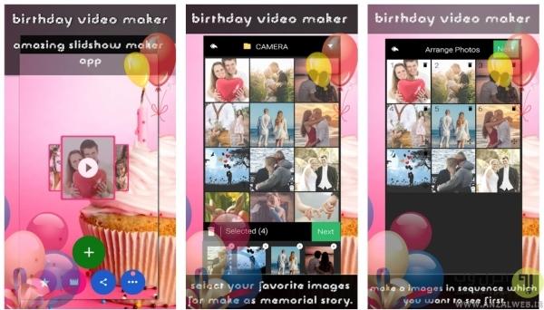 برنامه Birthday Video Maker برای ساخت کلیپ تولد در اندروید