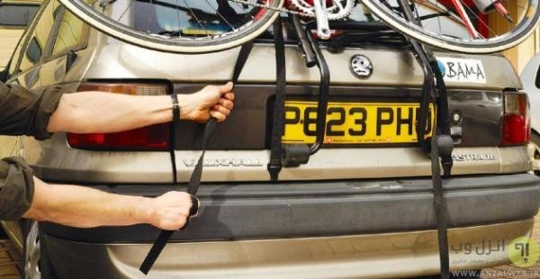 روش بستن دوچرخه بند روی ماشین