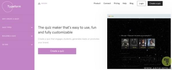 ایجاد آزمون آنلاین در Typeform