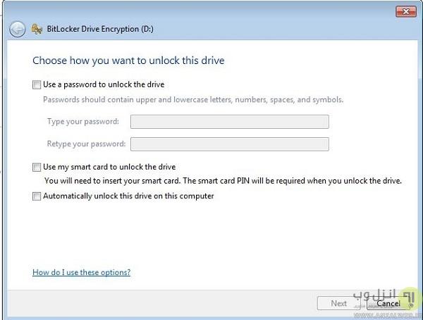 گذاشتن پسورد روی درایو در ویندوز 10، 8 و 7
