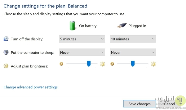 غیر فعال کردن حالت Power Save برای مانیتور