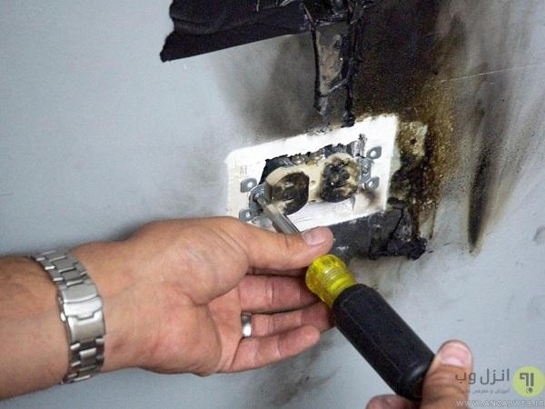 تعمیرات اشتباه، علت داغ شدن پریز برق