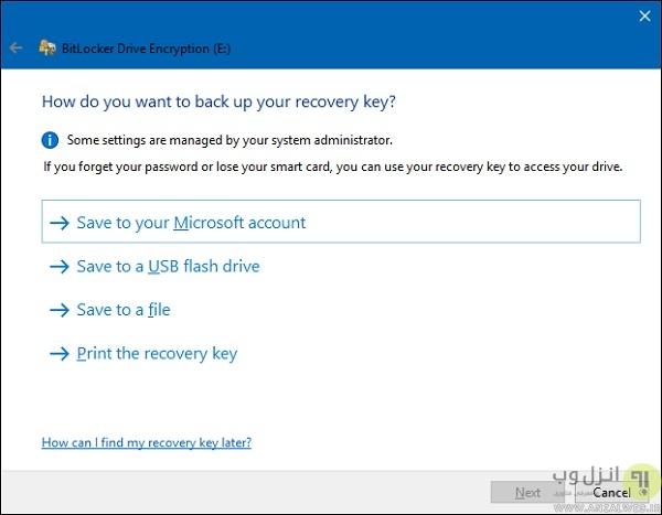 رمزگذاری و آنلاک کردن درایو