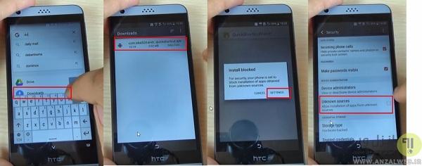 حل مشکل اکانت گوگل بعد از فلش گوشی HTC