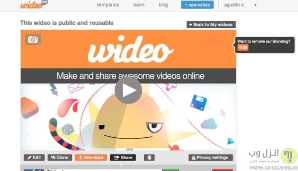 ایجاد کلیپ تبریک تولد در Wideo